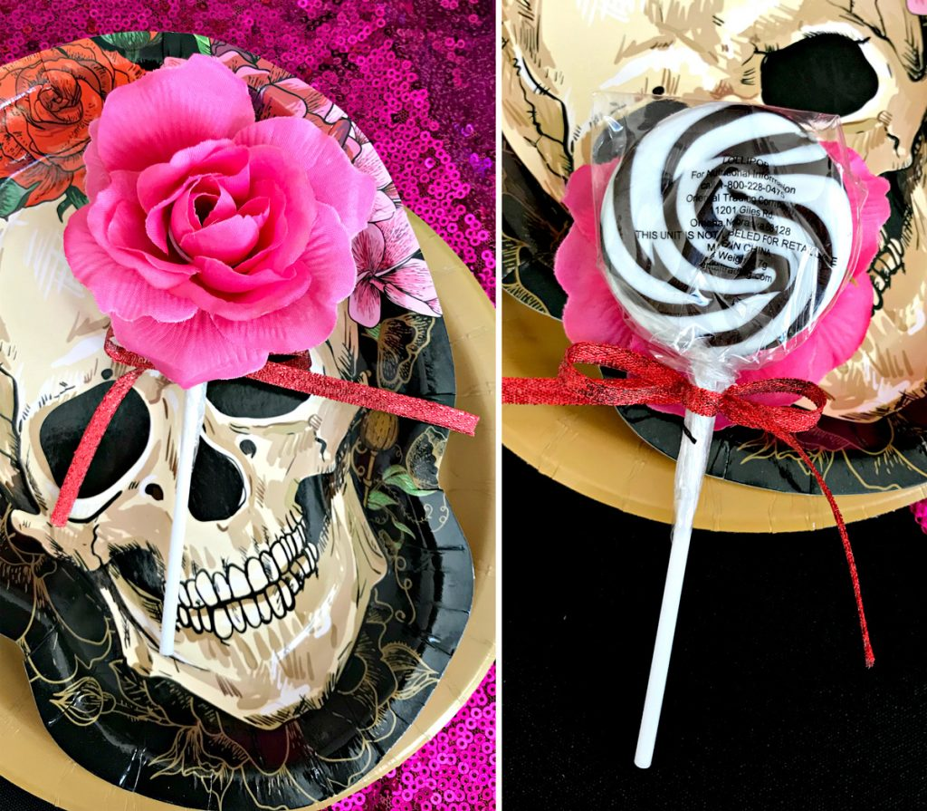 Bones and Blossoms Halloween Party Favors