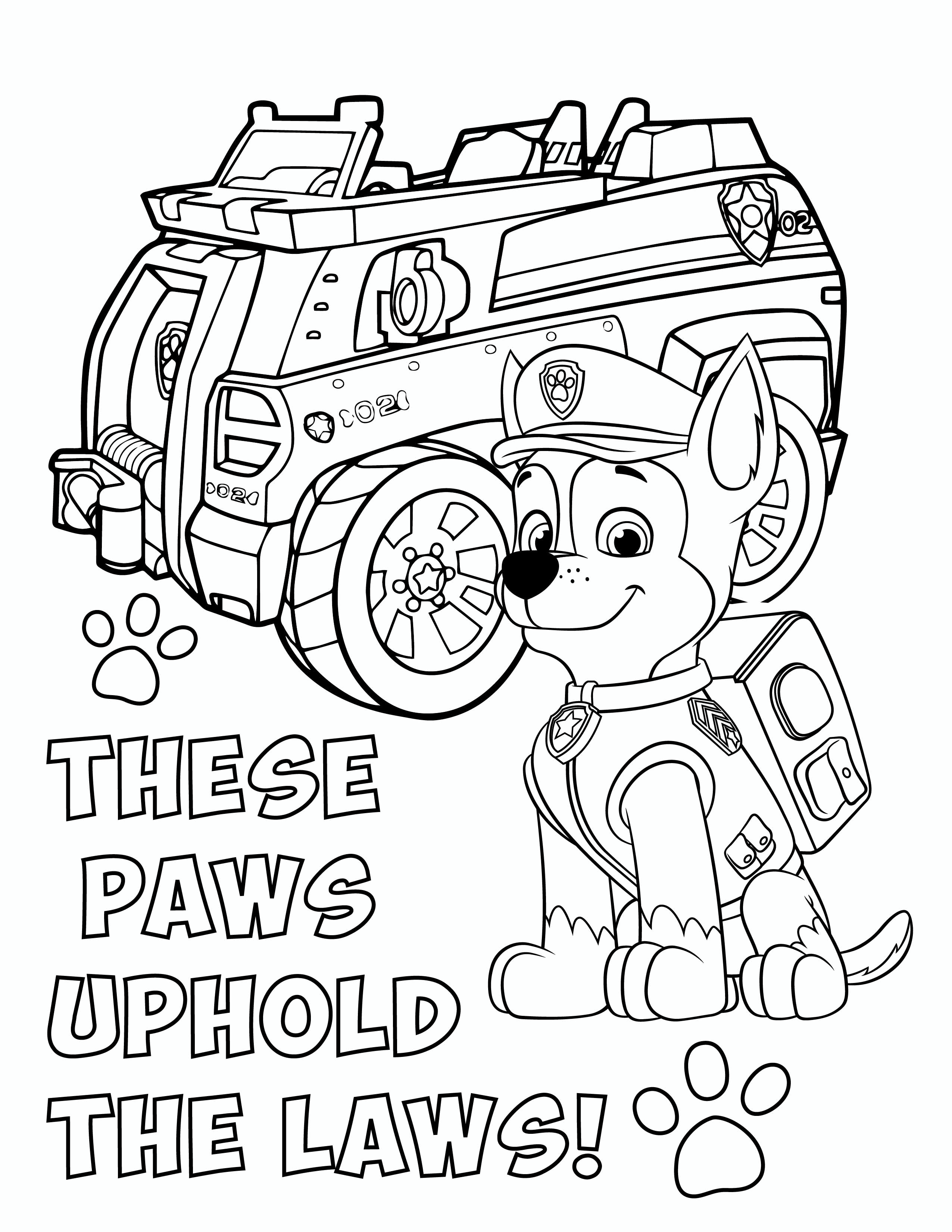 FREE PAW Patrol Chase Coloring Pages
