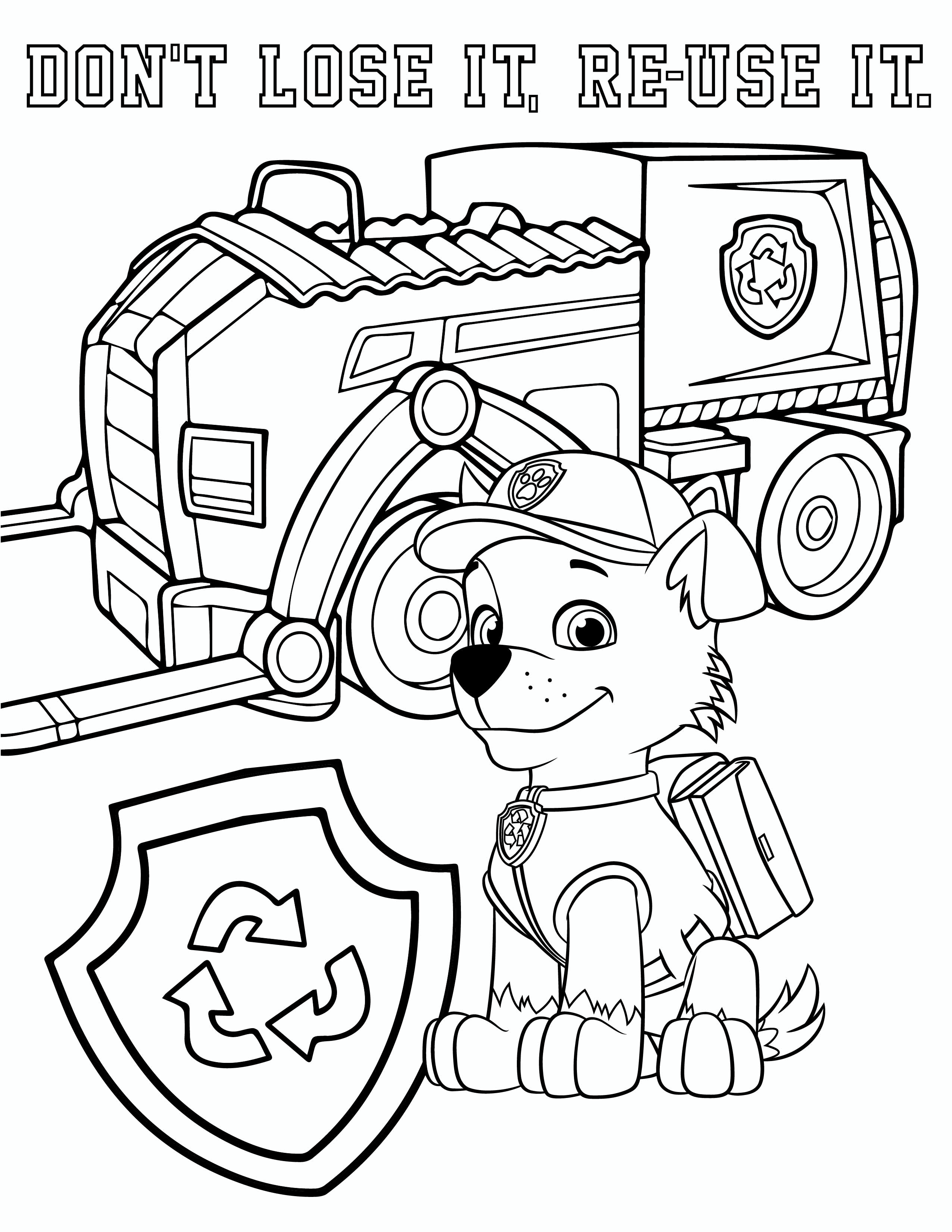 Free PAW Patrol Rocky Coloring Pages