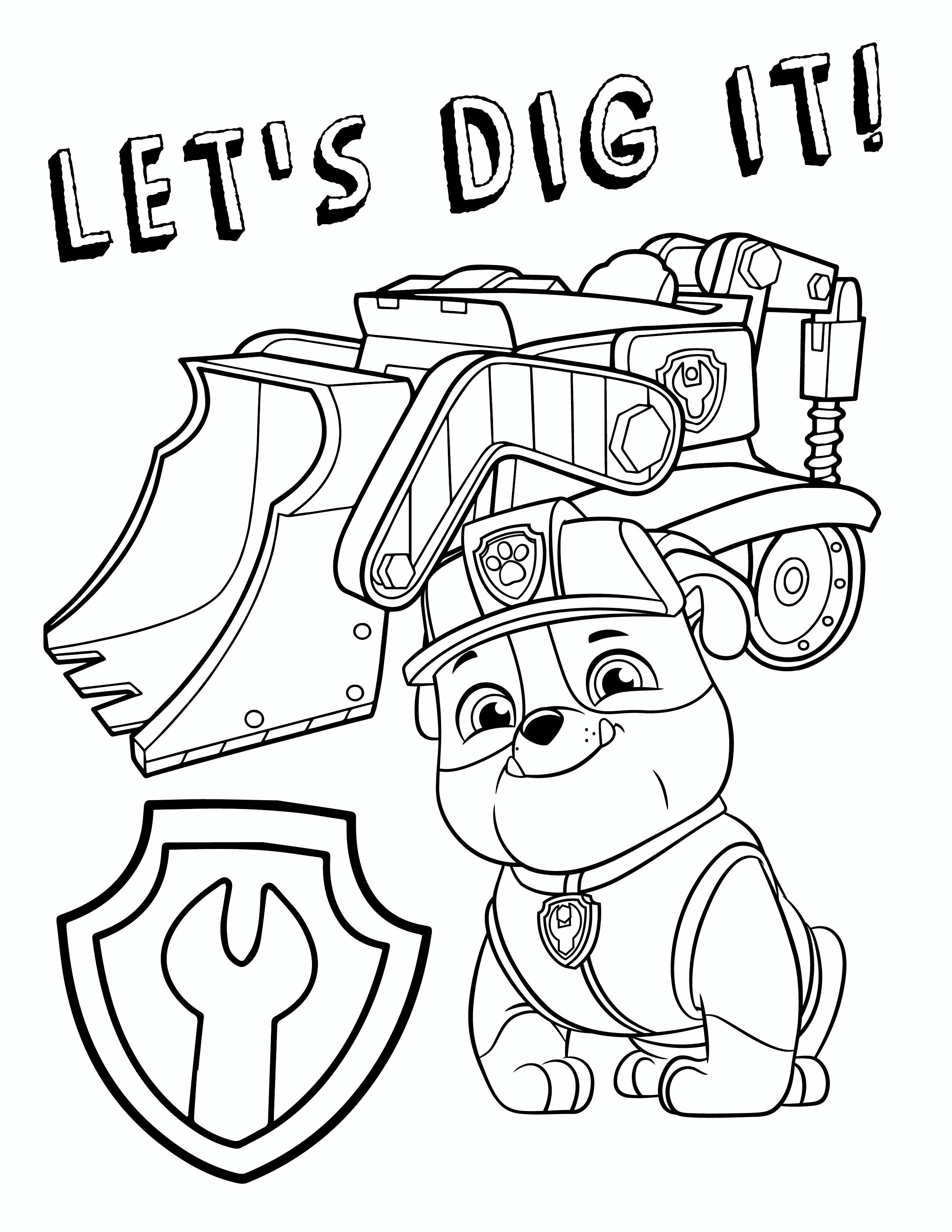 Free PAW Patrol Rubble Coloring Pages